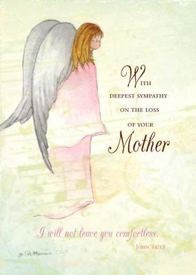... specific sympathy 51944 mother sympathy angel card id 51944