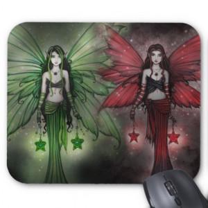 Christmas Fairy Sisters Mousepad