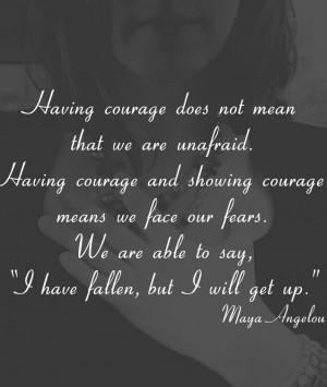 Maya Angelou quote on courage