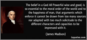 James Madison Quotes On God