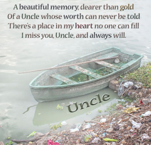 Free To Share Beautiful In Loving Memory - Uncle Card