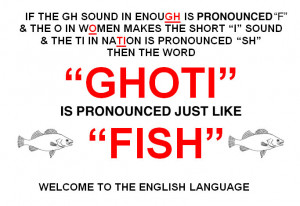 """How To Spell """"Fish"""" In Phonetic English…"""