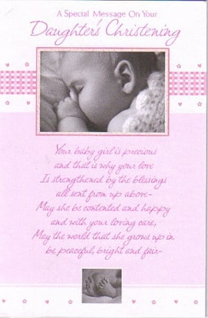 ... Christening, Girl, A Special Message On Your Daughter's Christening