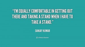 Taking a Stand Quotes