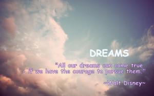 Motivational Quote Dreams