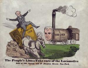 Van Buren, Martin: political cartoon from the 1840