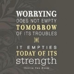Why Worry When You Can Pray?