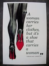 Christian Louboutin Art Print Sexy Black Shoes & Stockings Quote A4 ...