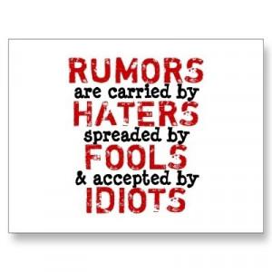 Fools. Quote. Quotes. Rumors.