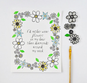 Life Inspirational Timeline Cover: Id rather have flower