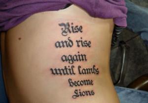Strength Quotes Tattoos ~ Strength Quote Tattoos   eyecatchingtattoos.