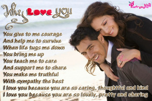 Love Romantic Poem Quote Why I Love You