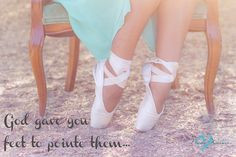 ... pointe shoes tons of times and thats what real live dancers pointe