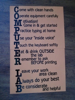 Computer Lab rules!