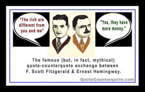 ... Scott Fitzgerald (1896-1940) and Ernest Hemingway (1899-1961