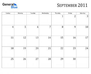 September Calendar Central...