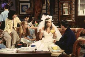 Rachel in wedding dress ( Friends )