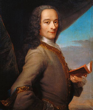 Image: French School - Portrait of the Young Voltaire (1694-1778)