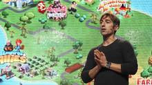 Zynga CEO Mark Pincus speaks during the Zynga Unleashed event at the ...
