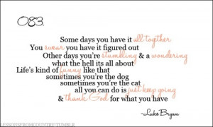 lessons from country luke bryan quotes