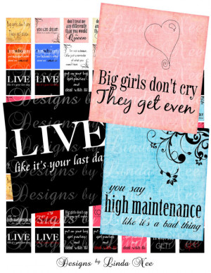 Sassy Quotes Scrabble Inch Images Sale Digital Collage