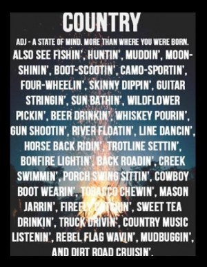 oh I can blame my tendency for skinny dipping on being country ;) ha