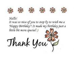 Saying thanks for birthday wishes