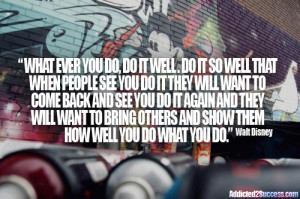 Walt Disney Success Inspiration Picture Quote