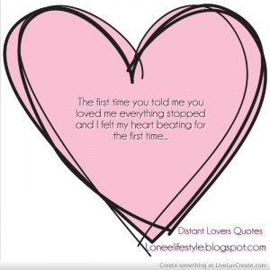 Distant Lovers Quotes
