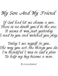 Birthday quotes, my son