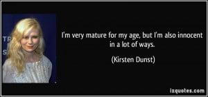 More Kirsten Dunst Quotes