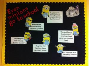 "Even Minions Go to School"" – New Back to School Bulletin Board ..."