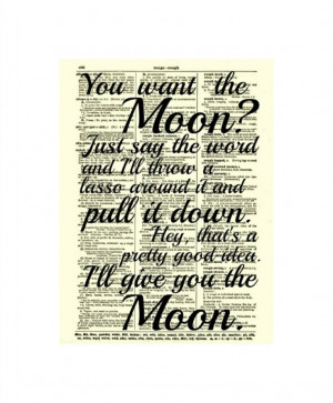 lasso the moon it s a wonderful life quote by reimaginationprints $ 10 ...