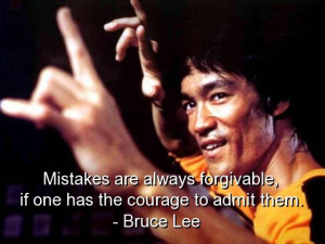 Bruce lee, quotes, sayings, quote, wise, mistakes, courage