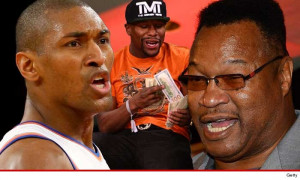 "quotes, Metta blasted the guy on Twitter … saying, ""Larry Holmes ..."