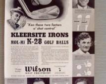 1938 Wilson Golf Print Ad Ken Magaz ine Sam Snead Gene Sarazen Revolta ...