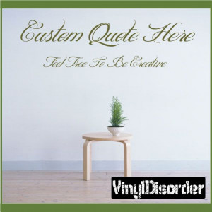 Custom Wall Vinyl Decal Sticker Create Your Own Quotes $2.50 for up to ...