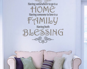 Christian wall quotes - Home Family Blessing LOVE Wall Art | Christian ...