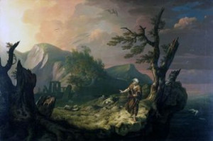 The Bard , 1774, by Thomas Jones (1742–1803)