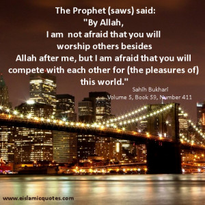 ... Compete for the Pleasures of This World – Islamic Quote About Life