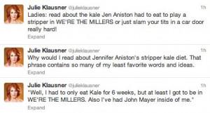 Julie Klausner on Jennifer Aniston