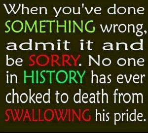Swallowing your pride