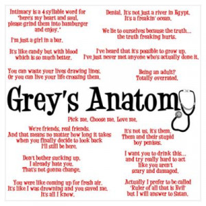 CafePress > Wall Art > Posters > Grey's Anatomy Quotes Poster
