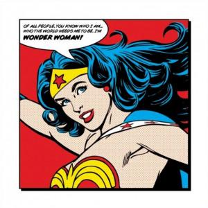 Wonder Woman World Needs Me Art Print Poster
