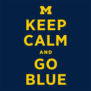Michigan Wolverines Navy Keep Calm and Go Blue T-Shirt