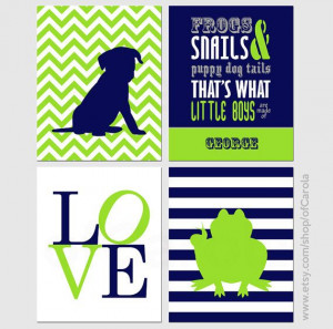 ... and Snails And Puppy Dog Tails Quote Name Wall by ofCarola, $36.00