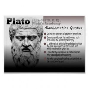 Plato Mathematics quotes Posters