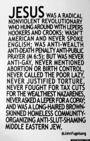 Jesus Was A Radical Nonviolent Revolutionary' Post By John Fugelsang ...