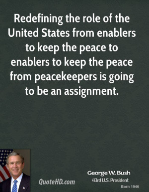 Redefining the role of the United States from enablers to keep the ...