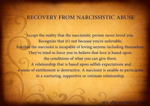 Recovery From Narcissistic Abuse